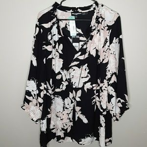 Karl Lagerfeld moriko tie neck blouse stitch fix